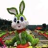 河北廠家直銷的節慶絹花造型綠雕-江蘇節慶絹花造型綠雕定做