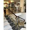 欧式奢华铜艺楼梯镀金护栏大方时尚