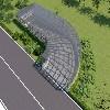【荐】地下车库玻璃雨棚设计/地下车库棚销售/车道入口定做